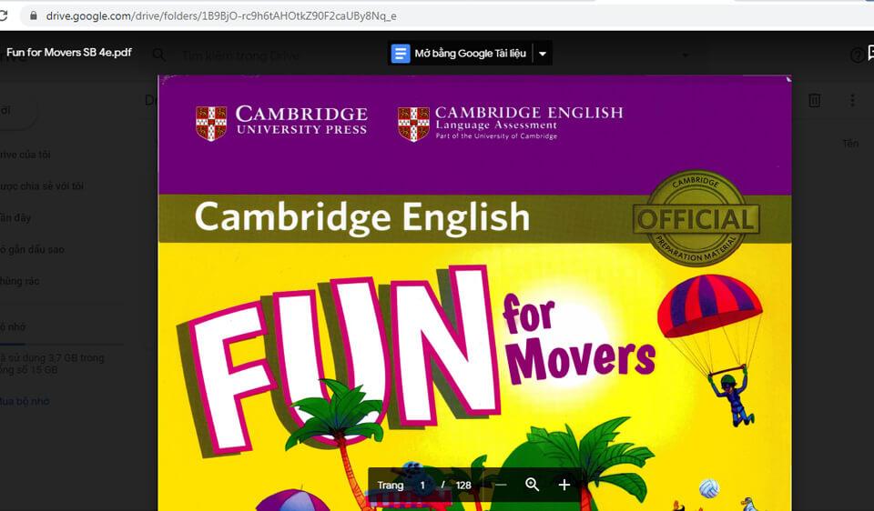 Trang tài liệu ôn luyện chứng chỉ cambridge movers